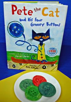 Cutting Tiny Bites: Groovy Button Cookies (from Pete the Cat)