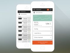 Mobile Dashboard and List View