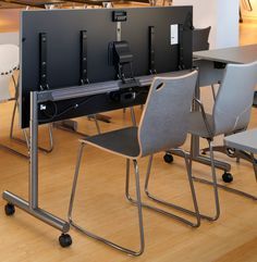 Versteel Slim Tilt .... Height adjustable flip top table!