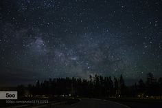 Night at Old Faithful by LibbyZhang. Please Like http://fb.me/go4photos and Follow @go4fotos Thank You. :-)