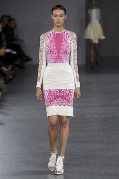 David Koma pink and white dress
