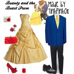 """Beauty and the Beast Prom"" by tinkpink08 on Polyvore"