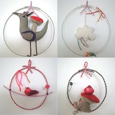 Different kind of mobile idea.. don't necessarily *love* these ones here, but they give me an idea!