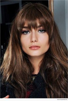 Amazing Long Hairstyles With Bangs For Round Face