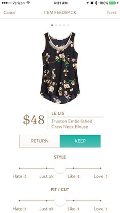 #stitchfix @stitchfix stitch fix https://www.stitchfix.com/referral/3590654 Truxton embroidered crew neck blouse