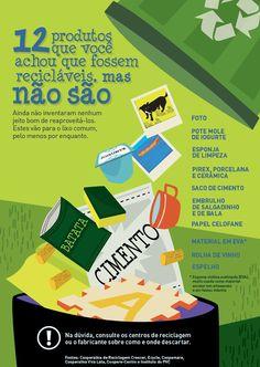 Por mais que a gente queira reciclar, ainda não inventaram nenhum jeito bom de reaproveitar alguns produtos, como fotos e esponjas de limpeza. Conheça 12 deles que vão para o lixo comum (pelo menos por enquanto), no Manual de Etiqueta: http://abr.io/J0dh