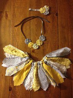 3 Piece Fabric Tutu set by CutiePatututieBowtiq on Etsy, $45.00