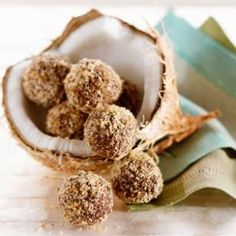Coconut-dark chocolate truffles from EatingWell Magazine, Jan/Feb 2013