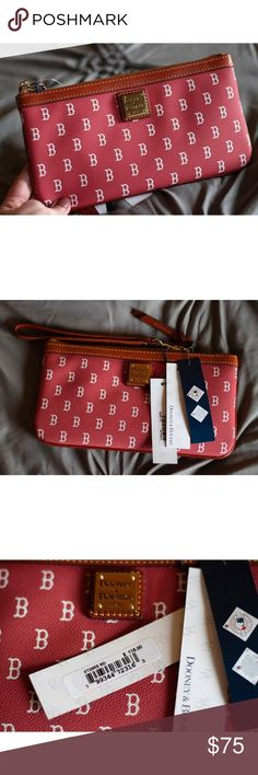 Spotted while shopping on Poshmark  Dooney  amp  Bourke Boston Red Sox  Wristlet Clutch 992492628b