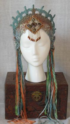 MADE TO ORDER Any Color Art Nouveau Mermaid Fantasy by MIMSYCROWNS, $130.00