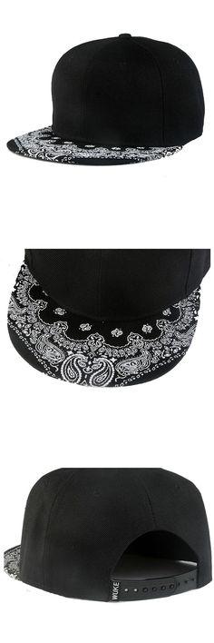 [Visit to Buy] Durable 2016 New Arrival 1Pcs Paisley Black Snapback Bboy Hiphop Hat Adjustable Baseball Cap Unisex #Advertisement
