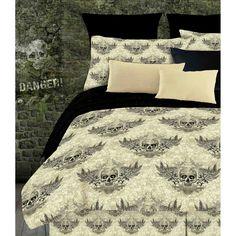 * Winged Skull Comforter Set *