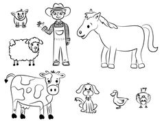 Pin Farm Animal Coloring Pages Picture Hd Hd Farm Animal Picture To