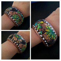Mixed media bracelet.  Miranda Bosch-Thurlings