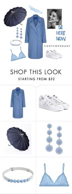 """Drops of blue"" by ellasophialove on Polyvore featuring Mode, Winser London, adidas Originals, Rebecca de Ravenel, Henri Bendel und Cosabella"