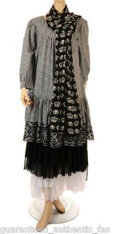 "Sale Hebbeding Check Embroidered Cotton ""Dodder"" Dress Sz 1 or 3 RRP £219 99 | eBay"