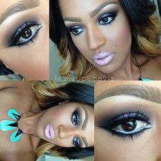 "Smokey makeup of the day✨@colouredraine ""Malibu Barbie"" lipstick. @tartecosm... | Use Instagram online! Websta is the Best Instagram Web Viewer!"