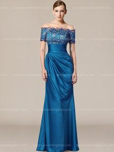 Modern Mother of the Bride Dresses_Marine Blue