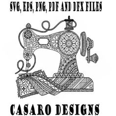 Old Fashioned Sewing Machine Coloring Page by