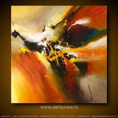 Peinture abstraite de la vie de Dan Bunea: nirvana par danbunea