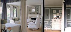 Mary McDonald grey bedroom canopy bed