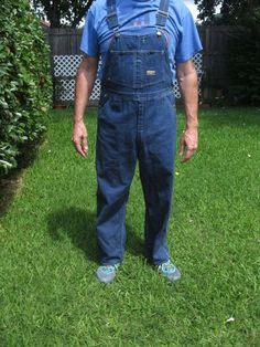 Vintage OSHKOSH B'GOSH Mens Vestbak Carpenter Bib Overalls Zip Fly USA 36 X 29 #OshKoshBGosh #Overalls