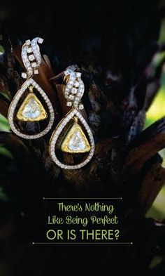 Simple and beautiful drop #earrings in #diamond polki to make you look even more charming!