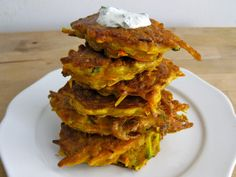 Curried Carrot and Zucchini Fritters