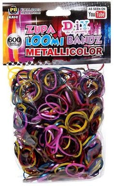 Refill Bands Diy Metallicolor Zupa Loom Metallic Rainbow Colors 600ct with S Clips zupa loom bandz,http://www.amazon.com/dp/B00FXB4Z4I/ref=cm_sw_r_pi_dp_zDJYsb1RJKWJ5X6H