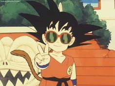 Goku with sunglasses B)