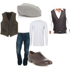 brisk spring day: mens outfit