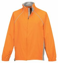 Tri-Mountain Men's Lightweight Cycling Jacket. BRIGHT ORANGE/SILVER, 3XL - http://ridingjerseys.com/tri-mountain-mens-lightweight-cycling-jacket-bright-orangesilver-3xl/