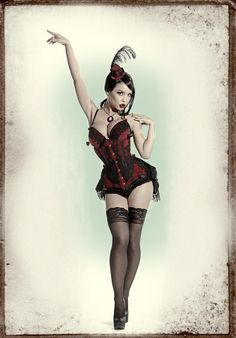 This is a great look ! www.shelbymason.com #sexyspooky #darbys #bootightlove : Curvy Corsets and Pretty Pinup Photography ♥