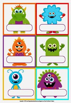 Freebie Labels - Little Monsters! Would be good to label food etc
