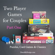 Two Player Games for Couples - Puzzles, Card Games and the Classics! Fun for a date night at home.