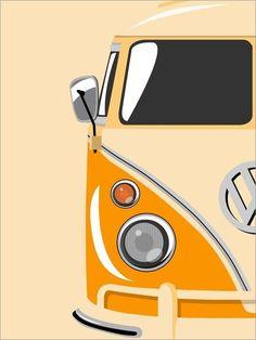 Nice artwork of a VW Bus
