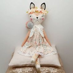 "346 Likes, 12 Comments - Jo Molony (@deerdarlingdolls) on Instagram: ""Here is one of my fox girls just finished. I will be releasing her next week along with 3 other…"""