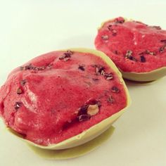Watermelon ice cream bowl / Wassermelonen-Eisschüssel - #vegan -