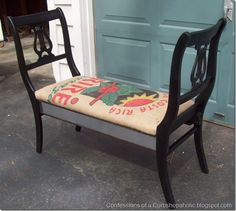 Made from two chairs and a flour sack