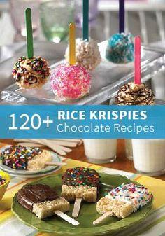 120+ Rice Krispies treats made with chocolate!