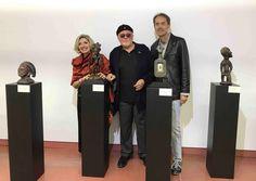 Omar Ronda,Bruno Albertino e Anna Alberghina Mostra Arte Africana al Macist di Biella