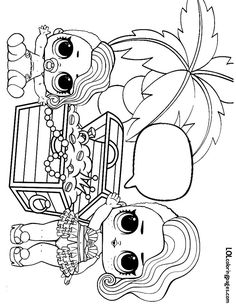 lol surprise dolls coloring pages print out for free all the series  the girls' birthday