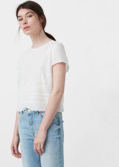 Haftowana bluzka - Koszule dla Kobieta | OUTLET Polska