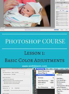 Photography tips   photoshop tips, photoshop tutorial, photoshop basics, photoshop basic color adjustment, The basics of Photoshop: Photoshop 101
