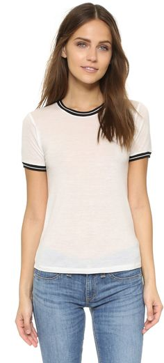 """Rag & Bone Stevie Short Sleeve Tee ($150) // as seen on Spencer Hastings, played by troian bellisario, in pretty little liars episode 7x08, """"Exes and OMGs."""""""