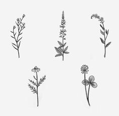 Image result for small bunch of flowers tattoo