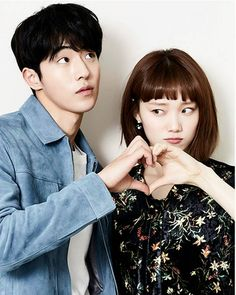Date Please 😭❤ [@heybiblee @skawngur] They met up for a new Photoshoot. ~♡ _ Together in Weightlifting Fairy Kim bok Joo.
