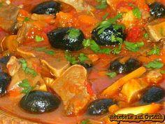 mancare de limba cu masline si praz Romanian Food, Romanian Recipes, Ratatouille, Thai Red Curry, Recipies, Good Food, Cooking, Ethnic Recipes, Recipes