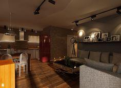 Projekt mieszkania w Krakowie  - Salon - Styl Nowoczesny - Ciochoń - Studio