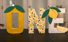 Excited to share this item from my shop: Lemon theme paper mache letters Baby Girl Birthday Theme, Baby Girl Shower Themes, First Birthday Parties, Birthday Party Themes, First Birthdays, Birthday Ideas, Paper Mache Crafts For Kids, Plate Crafts, Peach Baby Shower
